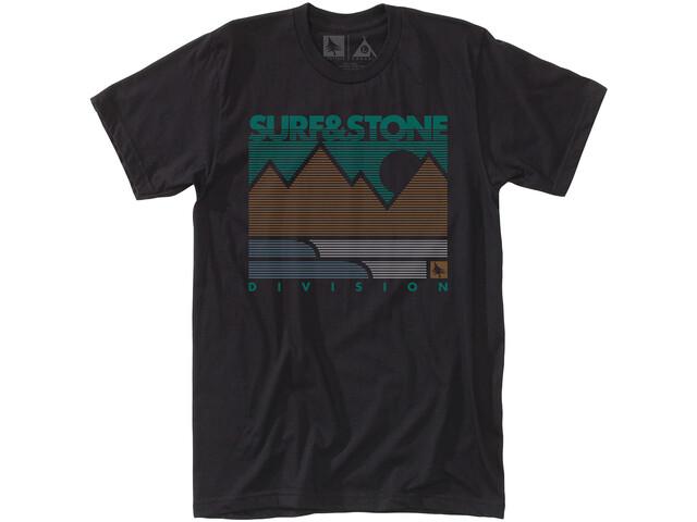 Hippy Tree Linework T-shirt Homme, black